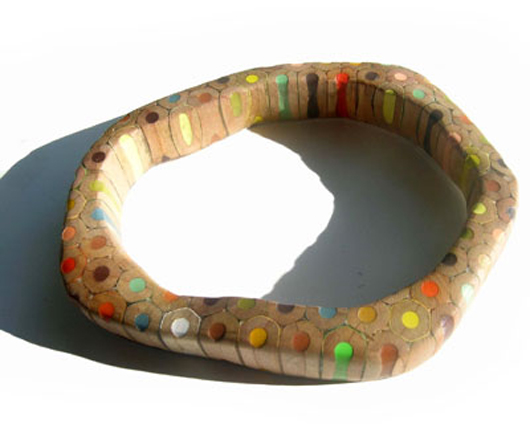 Bijoux en crayons de couleurs Crayon-ring-3
