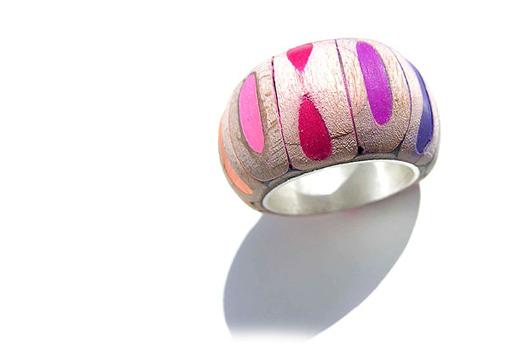Bijoux en crayons de couleurs Crayon-ring-6