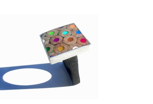 Bijoux en crayons de couleurs Crayon-ring-9
