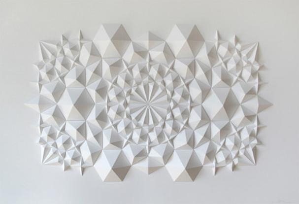 Design maroc matthew shlian sculptures en papier for Architecture papier