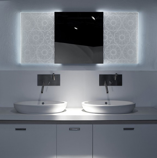 design maroc miroir lumineux et graphique par elia. Black Bedroom Furniture Sets. Home Design Ideas