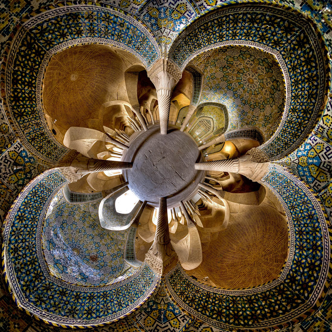 Vakil mosque- Shiraz ( little planet view)2