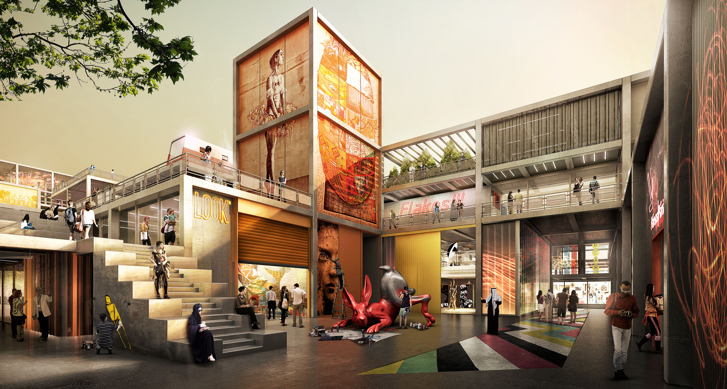 Dubai Design District_d3_Workshop Courtyard