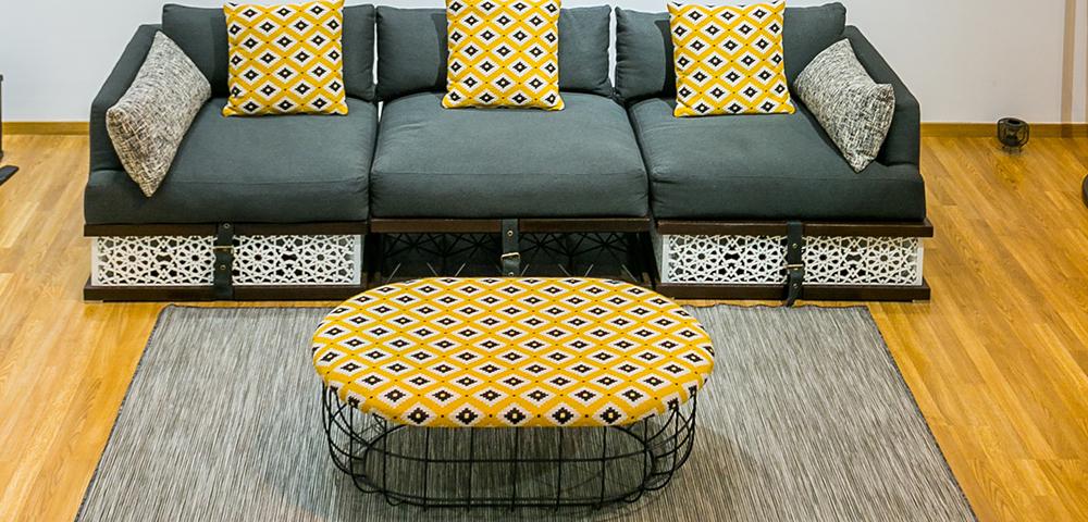 Table basse Sghrira par Younes Duret sur Design Maroc
