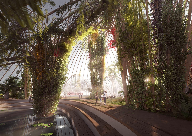 Projet Utopia le parc intérieur st Erik de Stockholm Design Maroc